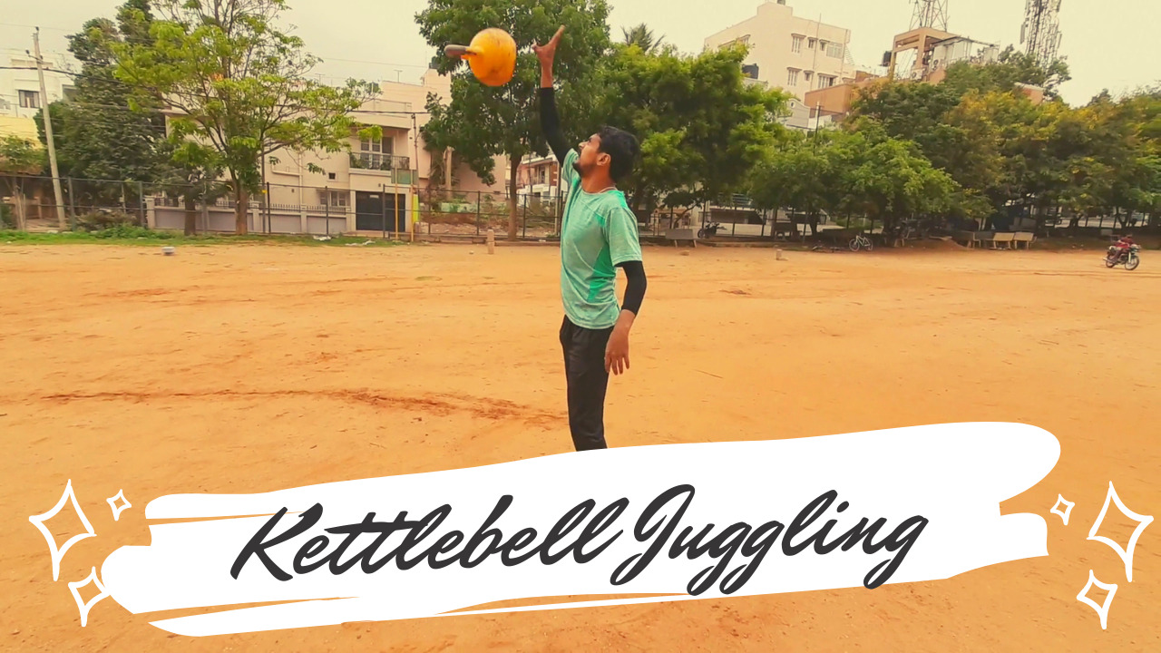 Performed basic kettlebel juggling