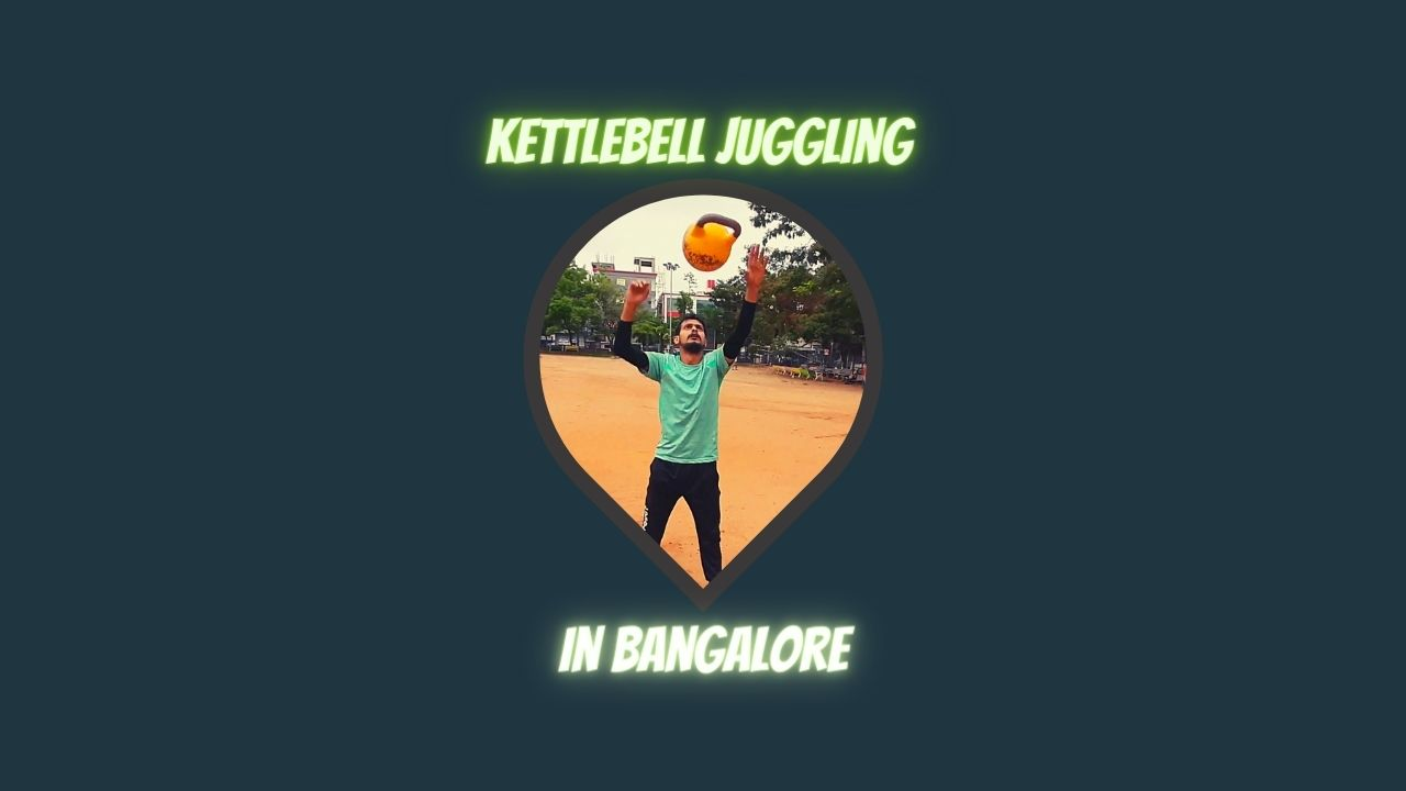Kettlebell Jugling In bangalore by raghava rajaguru